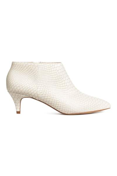 Snakeskin-patterned Boots