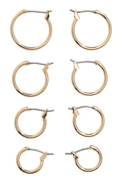 4 Pairs Hoop Earrings