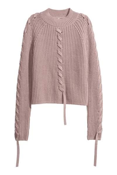 Ribbed Mock Turtleneck Sweater