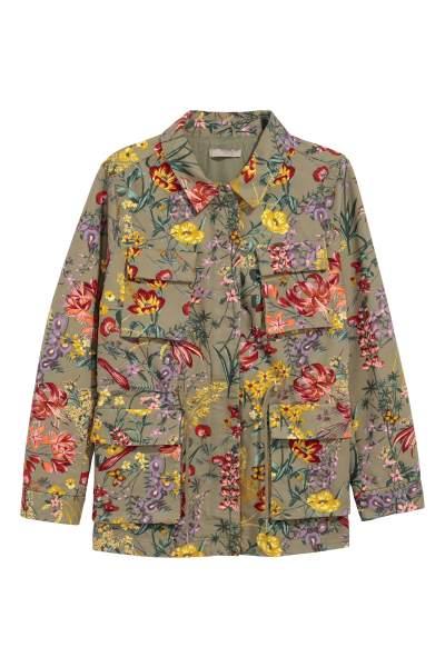 H&M+ Patterned Utility Jacket