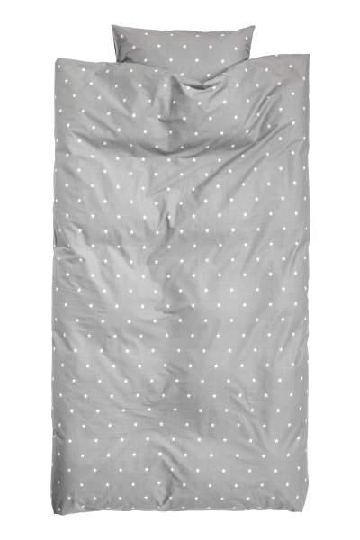 Star-print Duvet Cover Set