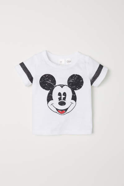 T-shirt with Printed Motif