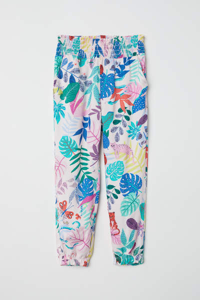 Patterned Pull-on Pants