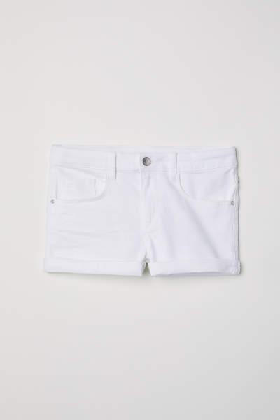 Generous Fit Twill Shorts