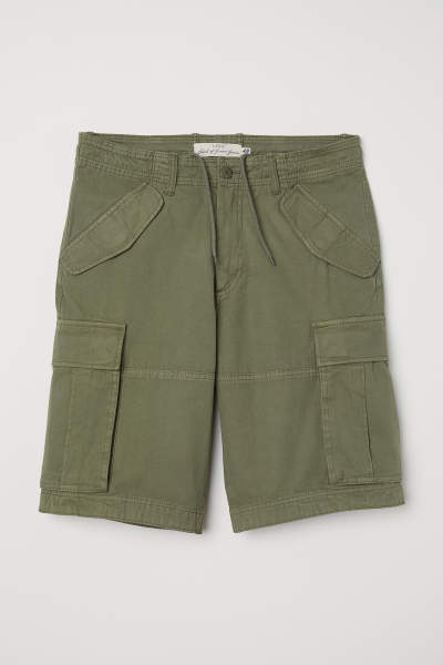 Cotton Twill Cargo Shorts