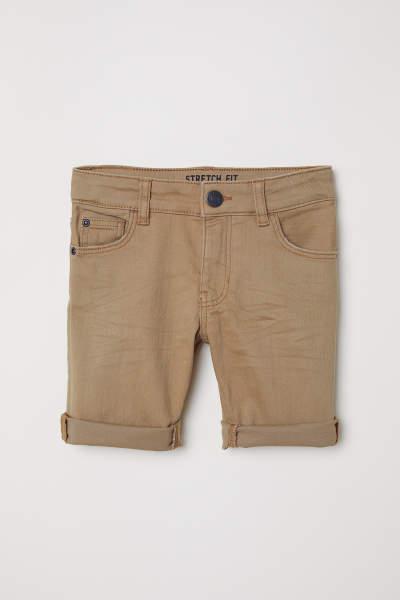 Knee-length Twill Shorts