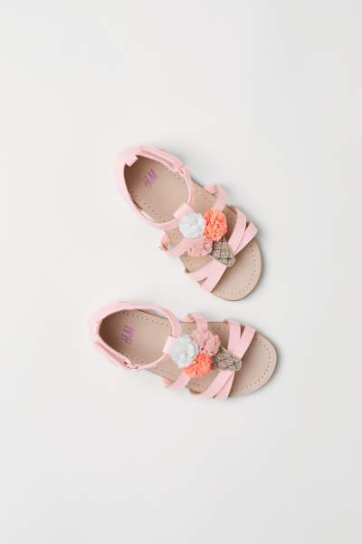 Sandals with Appliqué
