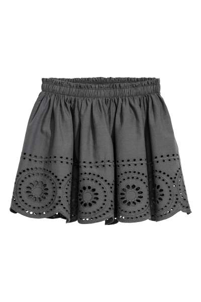 Skirt with Perforated Pattern