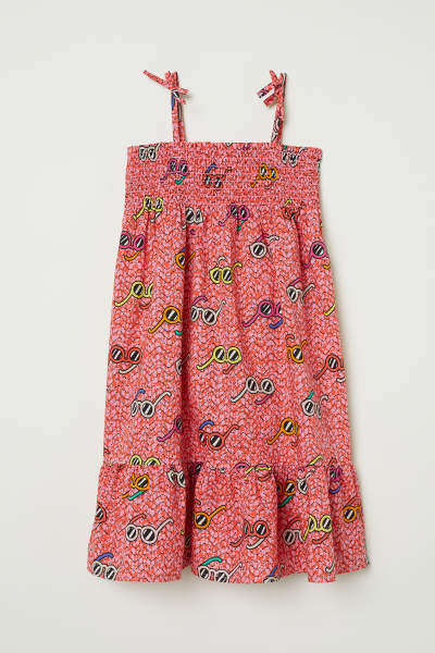 Cotton Dress with Smocking