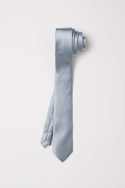 Narrow Satin Tie