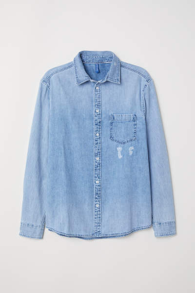 Trashed Denim Shirt