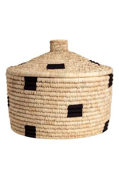 Braided Straw Basket
