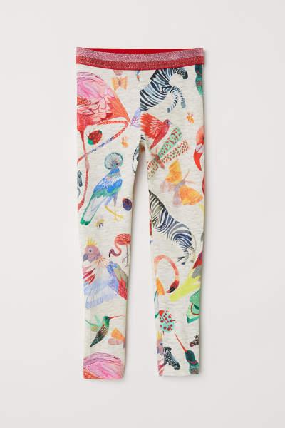 Leggings with Printed Design