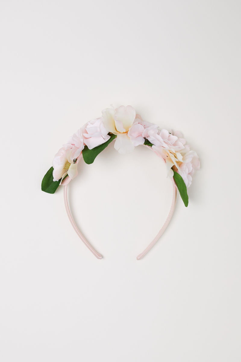 Hairband With Flowers Light Pink Kids Hm Us