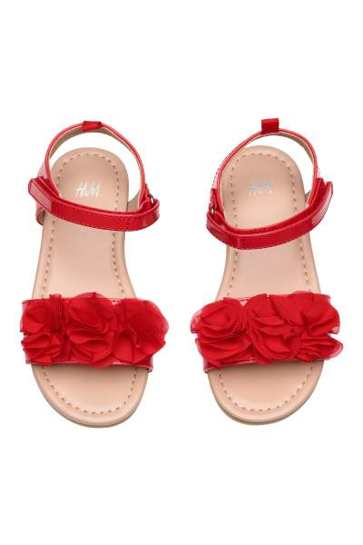 Sandals with Appliqué