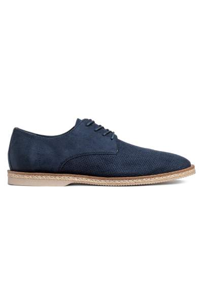Perforated-pattern Derby Shoes
