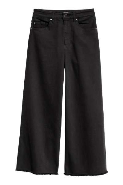 Wide-cut Twill Pants