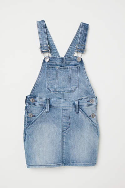 Denim Bib Overall Skirt