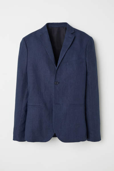 Slim Fit Linen Blazer