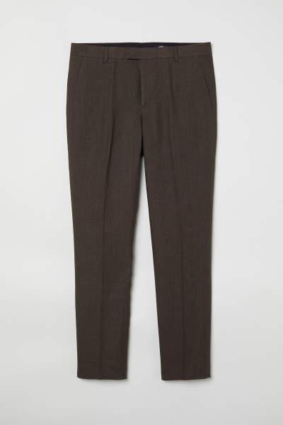 Slim Fit Linen Suit Pants