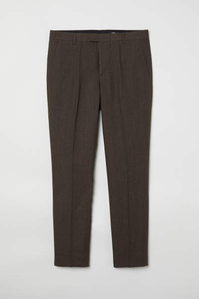 Slim Fit Linen Suit Pants