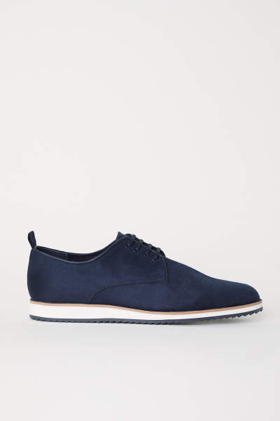 Faux Suede Oxford Shoes
