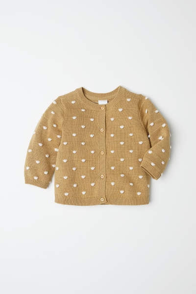 Dotted Cotton Cardigan