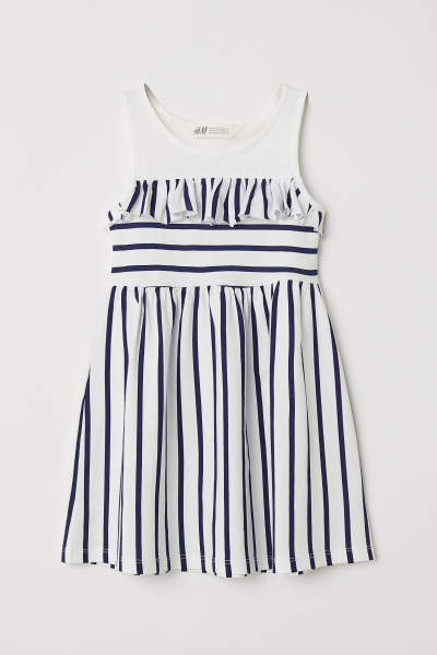 Jersey Dress with Ruffle
