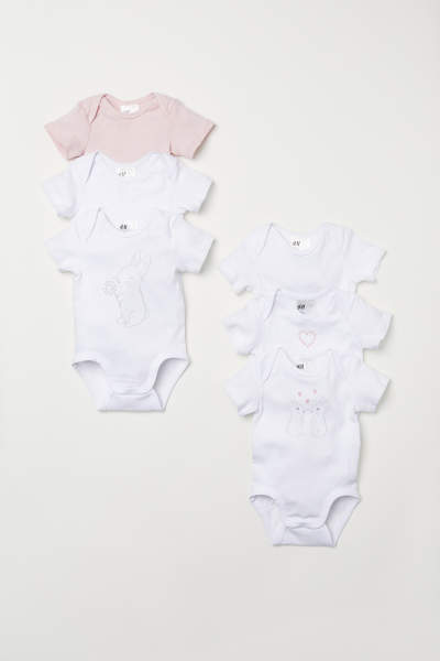 6-pack Short-sleeved Bodysuits