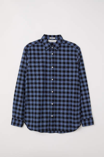 Flannel shirt regular fit styles day at for Types of flannel shirts