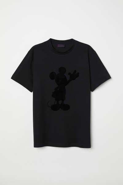 Flock-print T-shirt
