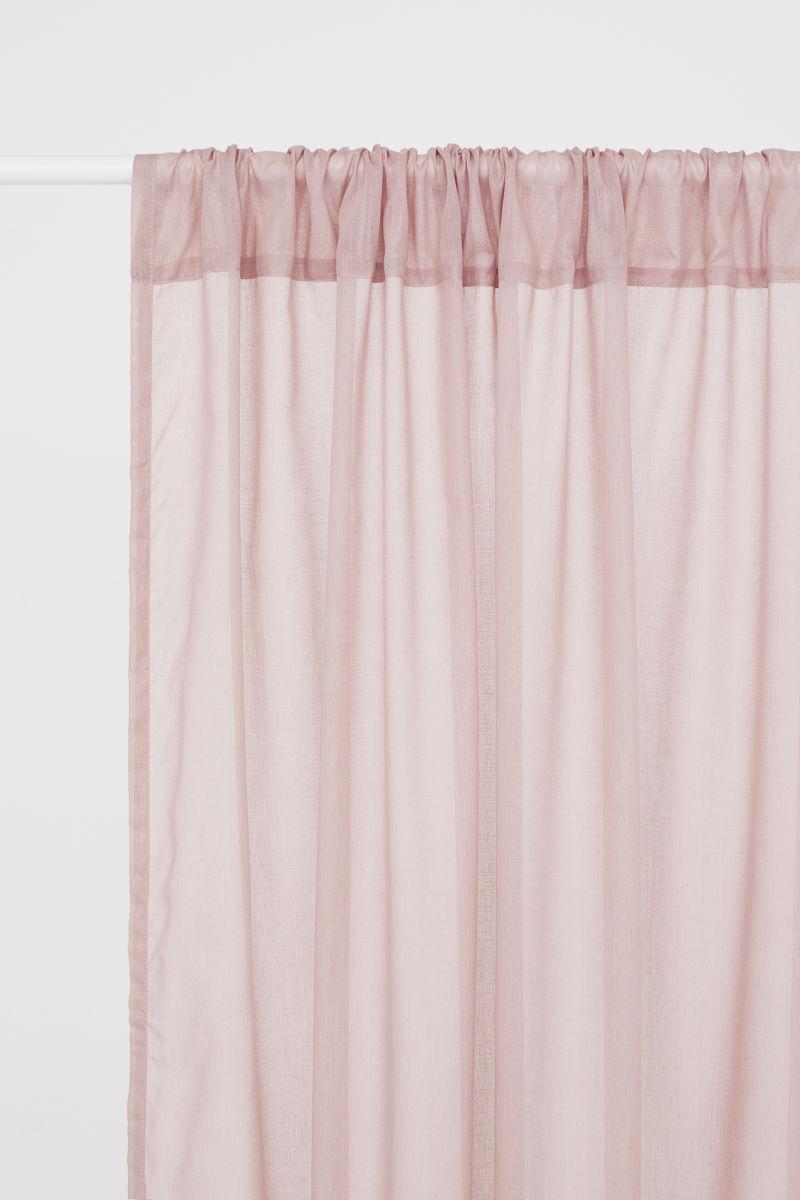 2 Pack Curtain Panels Dusky Pink H Amp M Home H Amp M Us