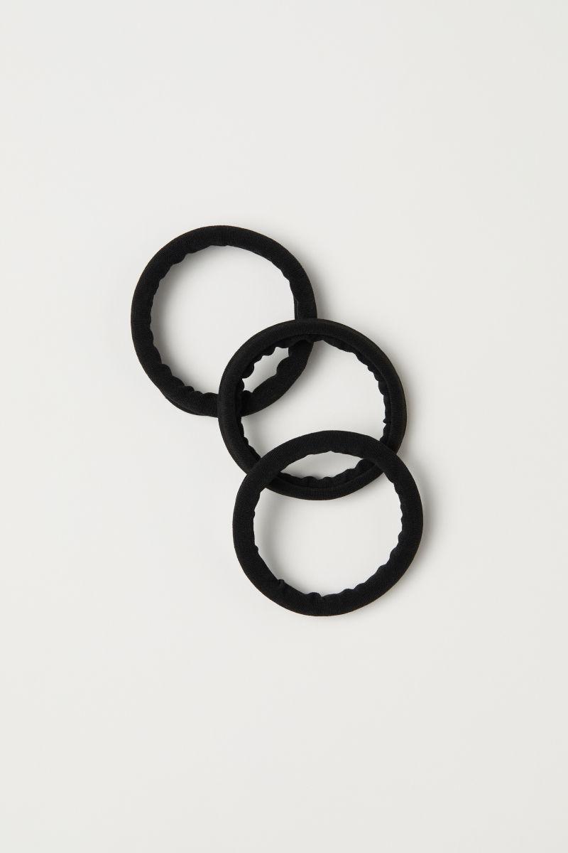 3-pack hair elastics | Black | LADIES | H&M GE