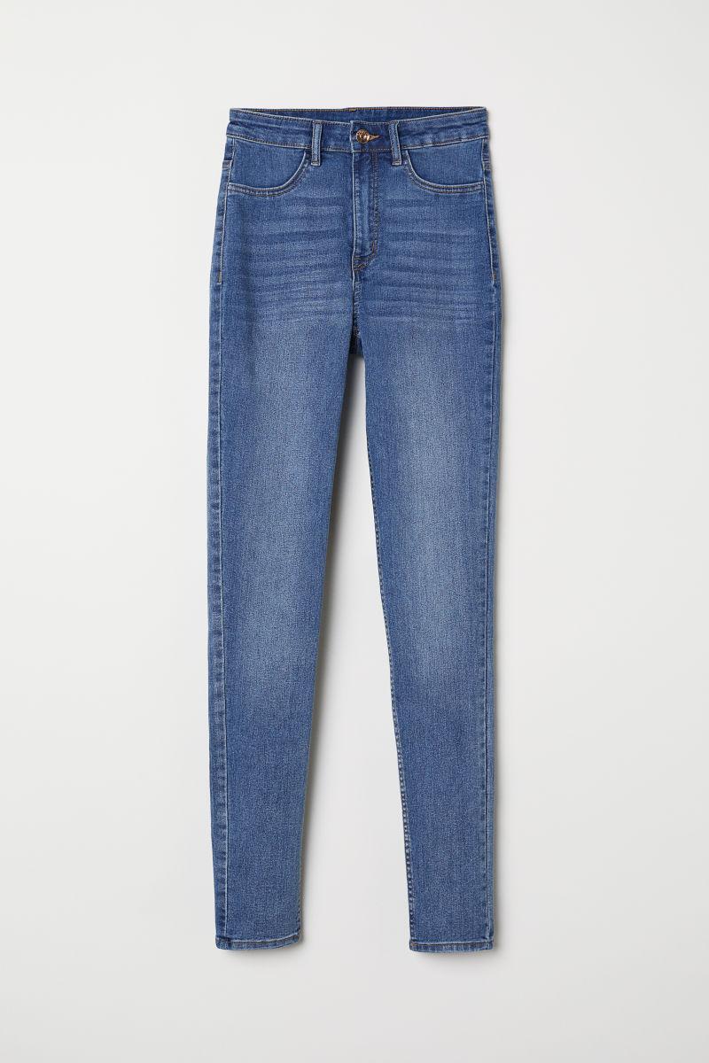 super skinny high jeans denim blue divided h m us. Black Bedroom Furniture Sets. Home Design Ideas