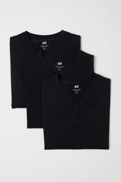 3-pack T-shirts Slim fit