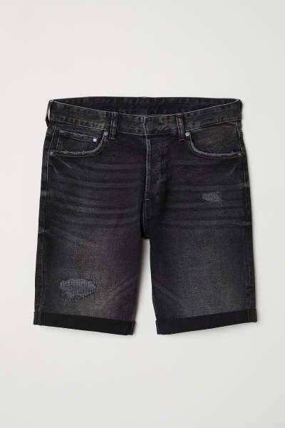 Slim Denim Shorts