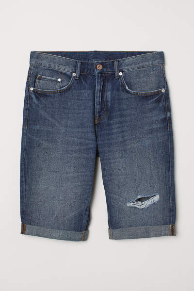Trashed Denim Shorts
