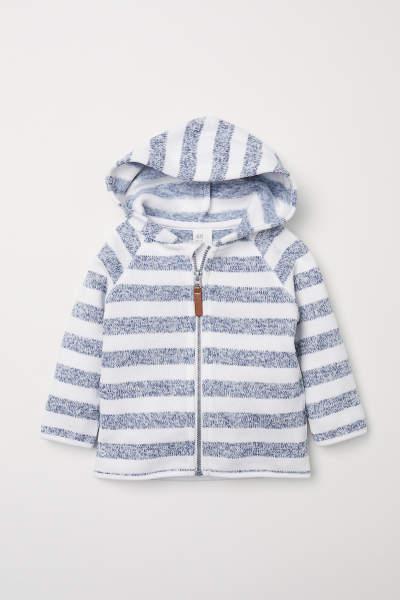 Knit Fleece Hooded Jacket