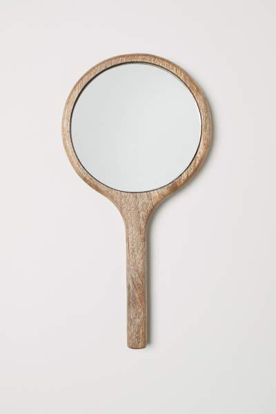 Wooden Hand Mirror