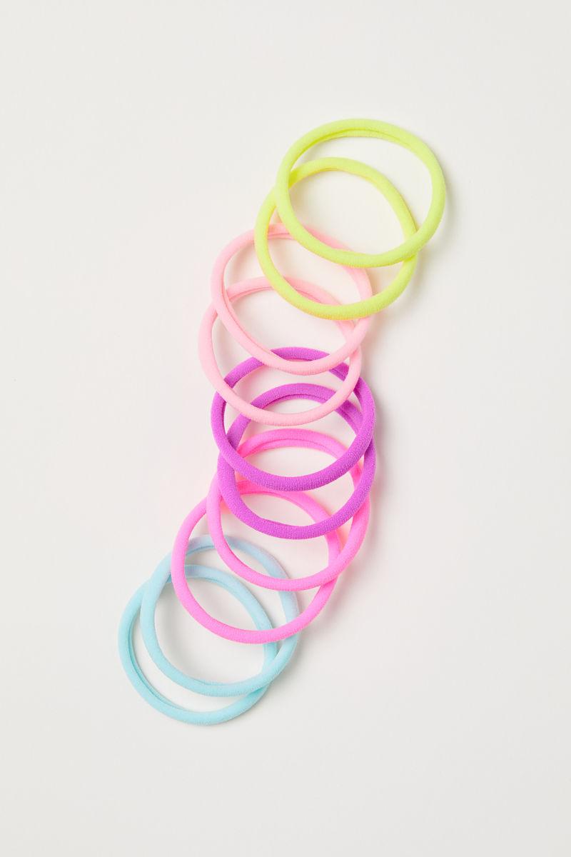 10-pack hair elastics | Neon pink | KIDS | H&M IS