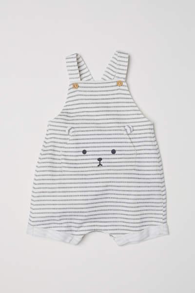 Cotton Bib Overall Shorts