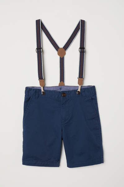 Chino Shorts with Suspenders
