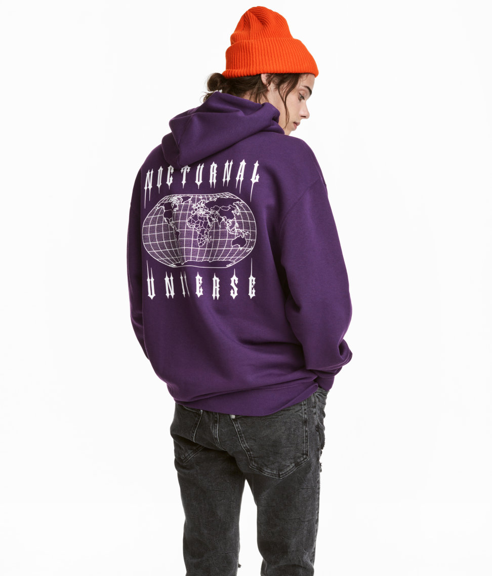 b478a89f5 Hooded Sweatshirt with Motif - from H&M