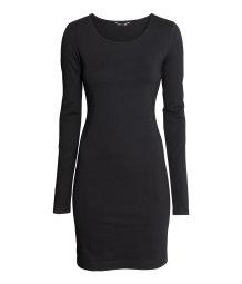 short jersey dress black sale h m us. Black Bedroom Furniture Sets. Home Design Ideas