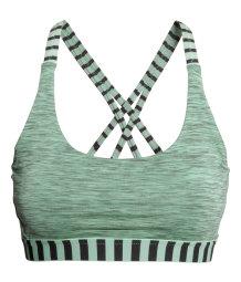 sports bra medium support green melange sale h m us. Black Bedroom Furniture Sets. Home Design Ideas