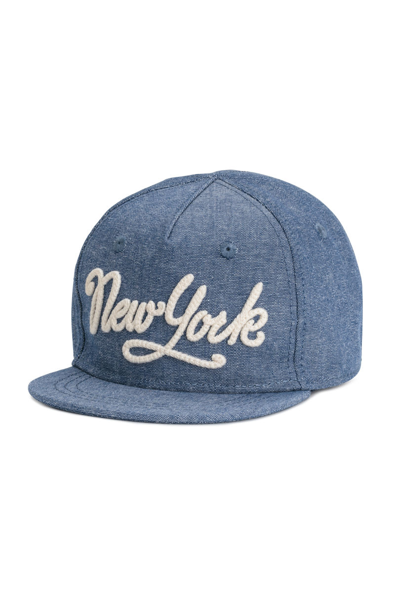 c367b7ec339dc best cotton cap with embroidery blue melange new york kids hm us bd7b1 e8a31