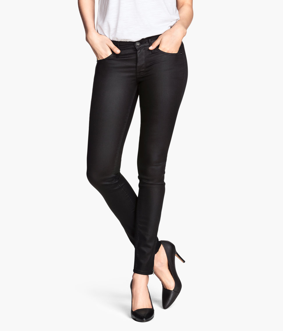 Skinny Low Ankle Jeans   Black   Women   H&M US