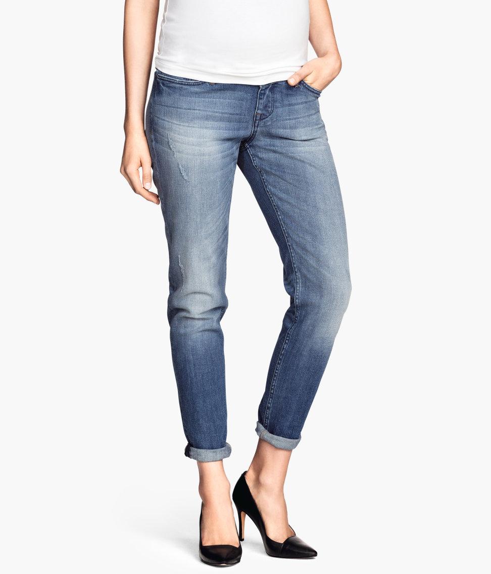 MAMA Boyfriend Jeans | Denim blue | Women | H&M US