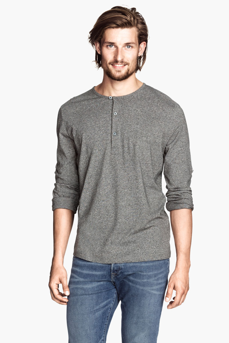 Henley T Shirt Add a cool new option of casual wear to your wardrobe with a henley t-shirt. Characterized a placket, or a short button down opening, at the neckline, the .