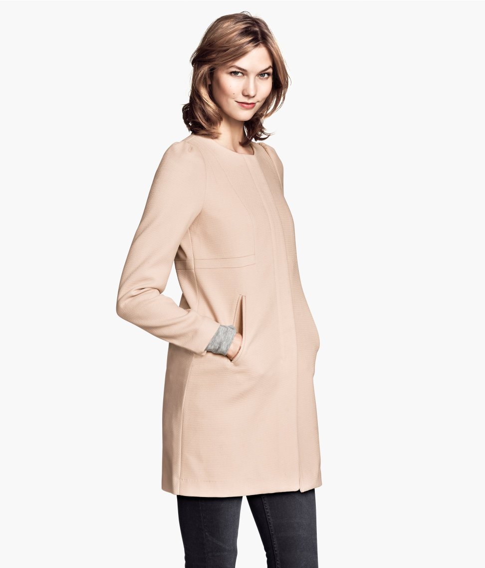 Textured Woven Coat | Powder pink | Women | H&M US